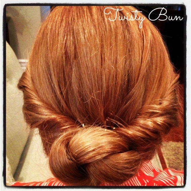 "How to Make a ""Twisty"" Bun {hair tutorial}"