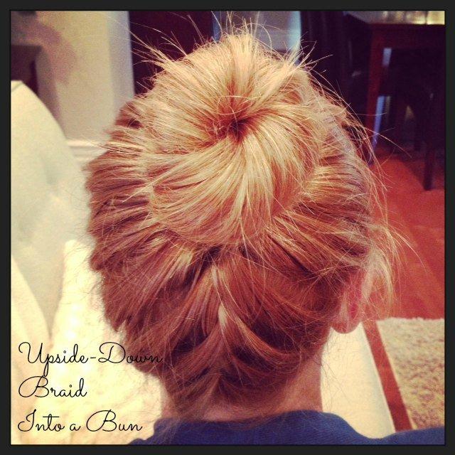 upside down braid into bun