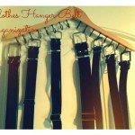DIY Clothes Hanger Belt Organization {gift idea}