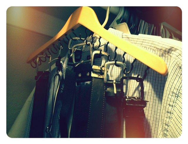 Clothes Hanger Belt Organization