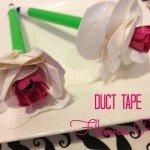 Duct Tape Flower Pen