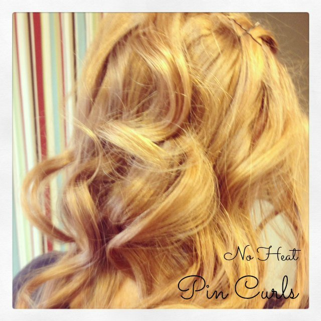 no heat pin curls