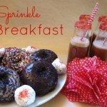 Sprinkle Breakfast {DIY} ~ Donuts & Chocolate Milk