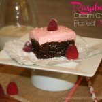 Raspberry Cream Cheese Frosted Brownies {plus giveaway}