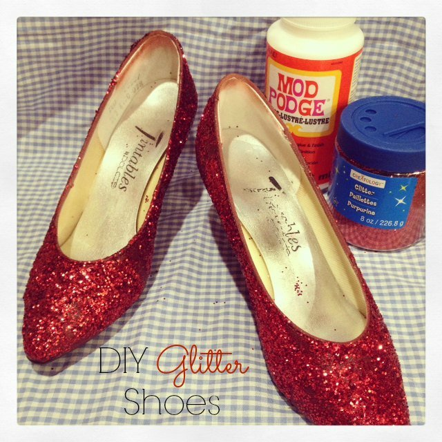Diy Glitter Shoes Wizard Of Oz