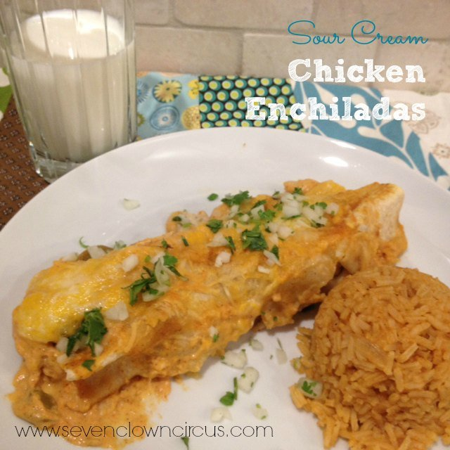 sour cream chicken enchilada