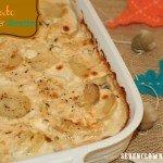 Enjoying Potato Cauliflower Gratin & Netflix {recipe}