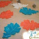 DIY Felt Leaf and Acorn Garland {how to}