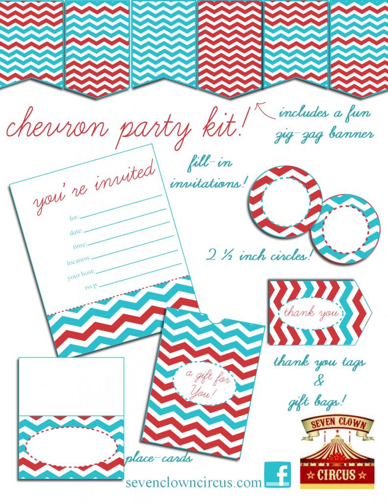 chevron party kit