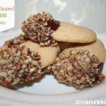 Chocolate Dipped Shortbread Cookies {recipe}