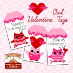 Valentine Owl Printable Tags {free printable}