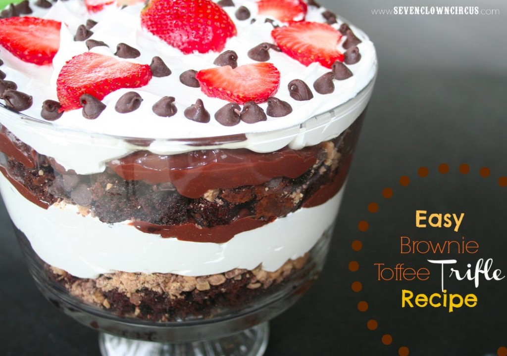 brownie toffee trifle recipe