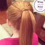 wrap around pony tail