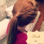 Braid in a Pony Tail Hairstyle {hair tutorial}