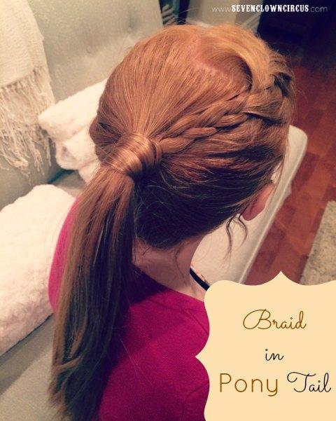 braid in pony tail