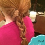 Braid without a Pony Holder – {tutorial}
