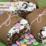 Chocolatey Puppy Chow Krispies {recipe} #easytomake