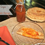 Homemade Crepes with Pumpkin Syrup {recipe}