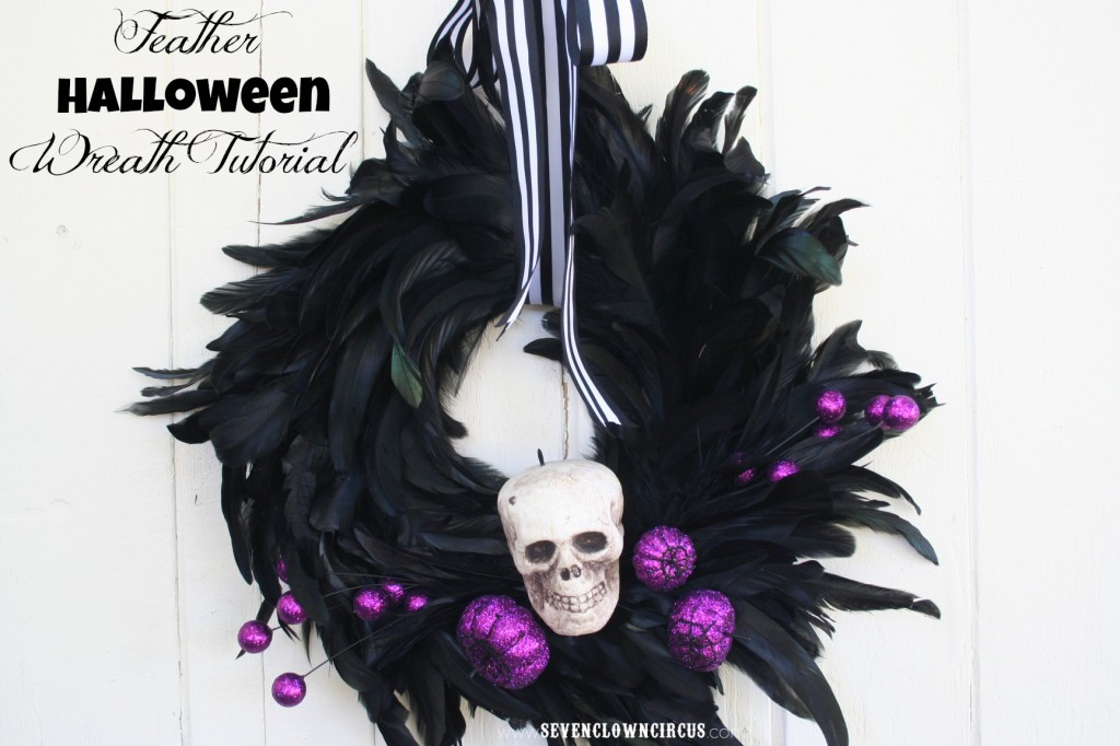 Feather Halloween Wreath Tutorial