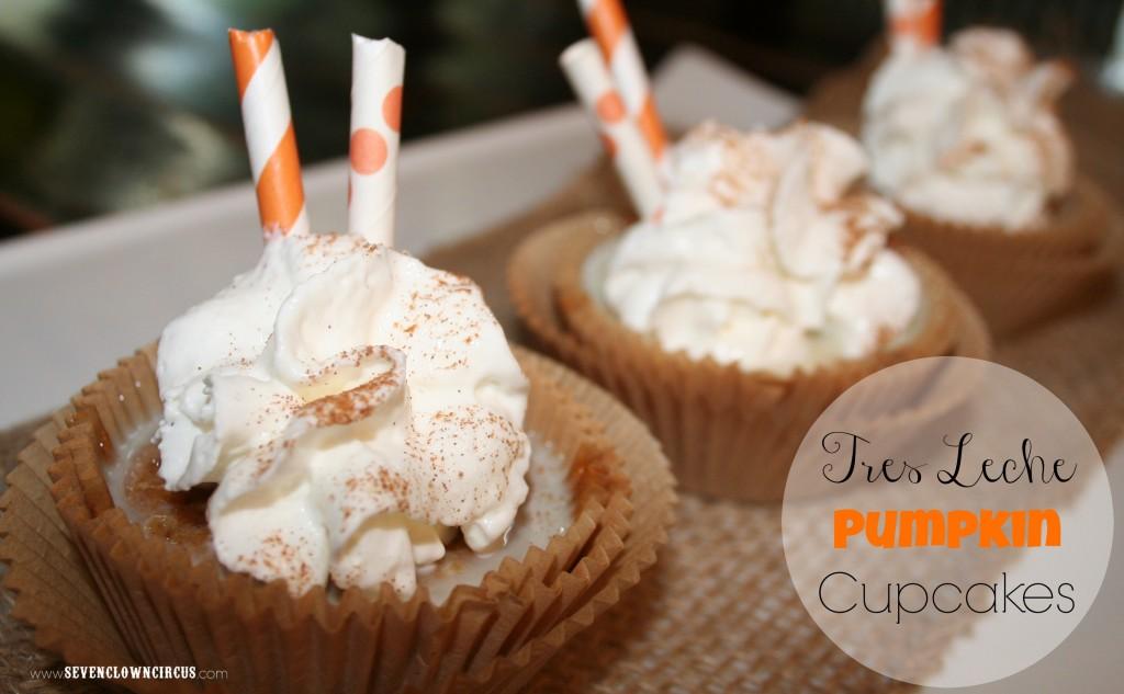 Tres Leche Pumpkin Cupcakes