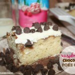 Raspberry Chocolate Poke Cake {recipe}
