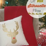 DIY Deer Silhouette Pillow {no sew}