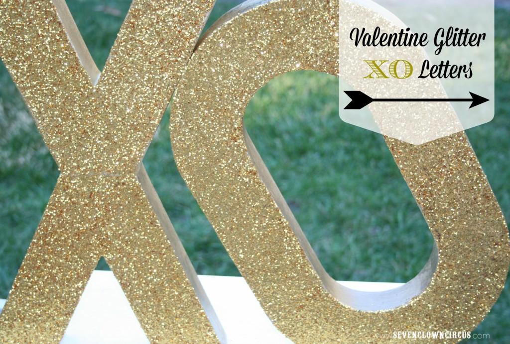 Valentine Glitter  XO Letters