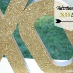 DIY Glitter XO Letters {valentines crafts}