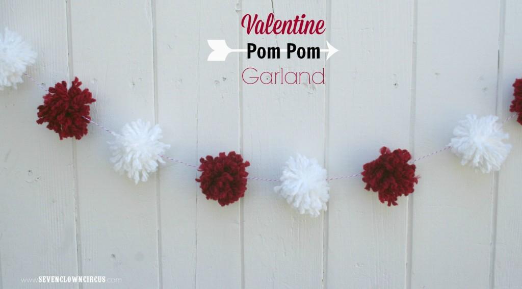 Valentine  Pom Pom  Garland