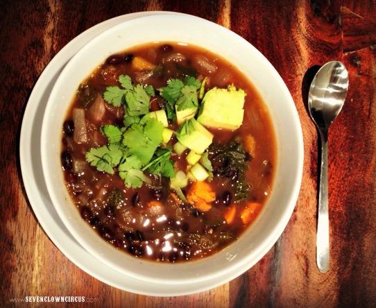 Black Bean and Butternut Squash Soup