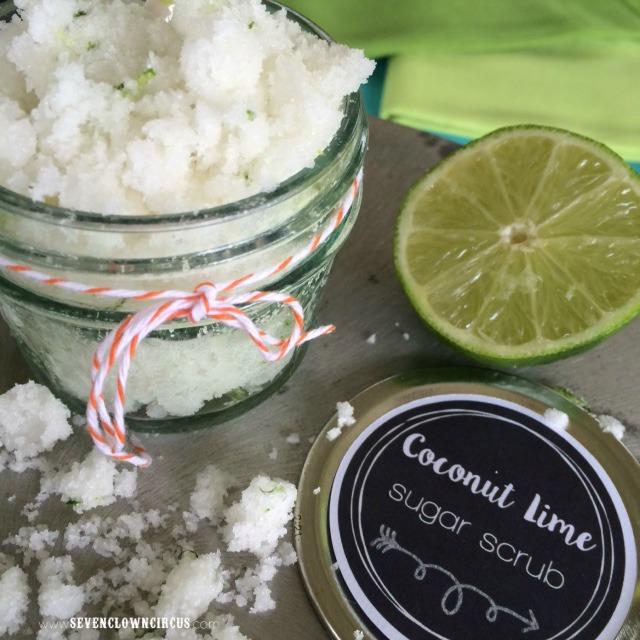 coconut lime sugar scrub