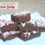 Double Chocolate Peppermint Fudge {recipe}
