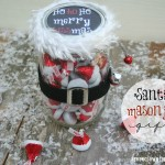 Santa Mason Jar Gift {free printable}